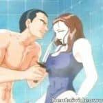 imagen dibujo sorprendido en la ducha con el entrenado