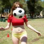 imagen sexo en publico de una futbolera