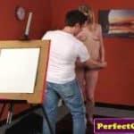 imagen modelo para pintar es follada por el pintor