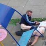 imagen borracha y violada en la calle por pajilleros
